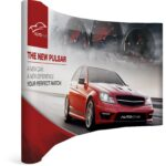 Curved Banner Wall with side Wings - brandexper