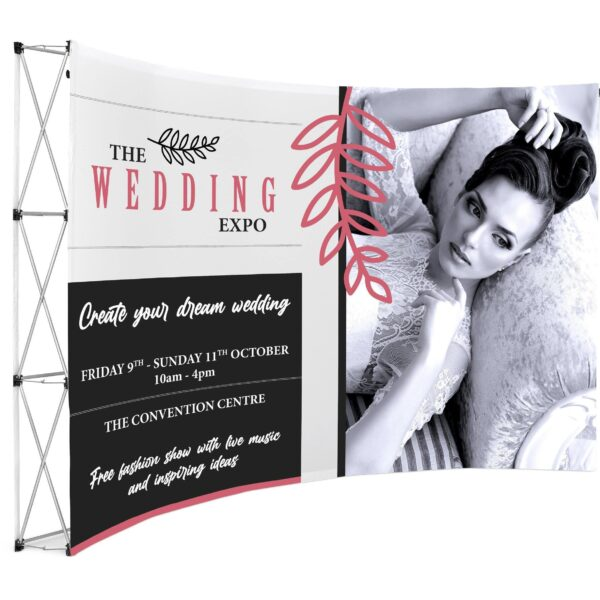 Curved Banner Wall - brandexper
